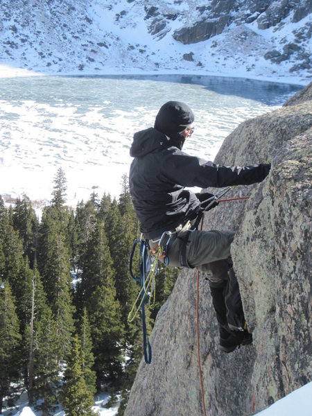Me climbing in Colorado