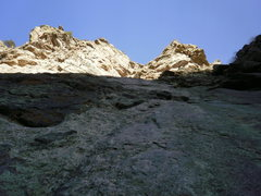 Rock Climbing Photo: Looking up at the 2nd pitch of Playin Hookey