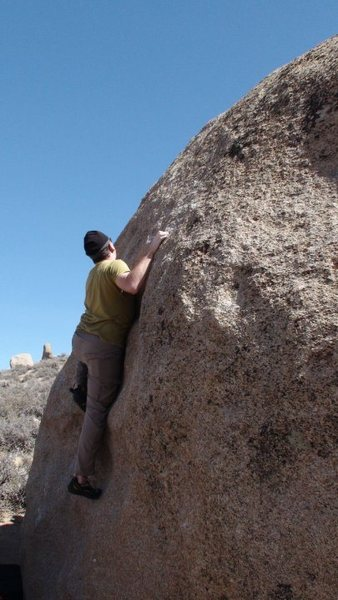 Rock Climbing Photo: Chris Holly working on Problem B on the west face ...