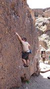 Rock Climbing Photo: Chris Holly working on Donkey Boy