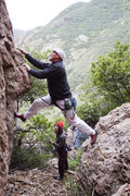 """Rock Climbing Photo: Erik on the start of """"Inspect Her Cool Soul&q..."""