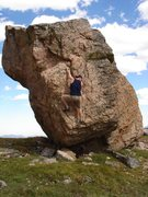 Rock Climbing Photo: Bouldering near Rollins pass, while keepin an eye ...