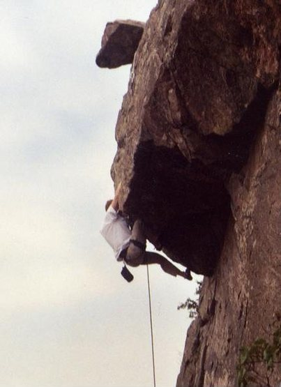 Rock Climbing Photo: pullin the crux