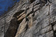 Rock Climbing Photo: working up the crux section of apoplexy, a little ...