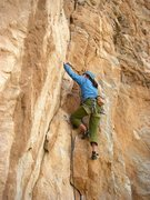 Rock Climbing Photo: Erica Bigio starting up the crack system.