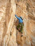 Rock Climbing Photo: Erica Bigio starting up the crack system.