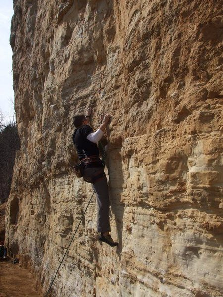 Rock Climbing Photo: my first lead on big man on campus