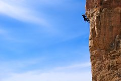 Rock Climbing Photo: High on the route, near the crux. March 2011. (Vie...