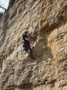 Rock Climbing Photo: through the crux...onto some fun...now i just gott...