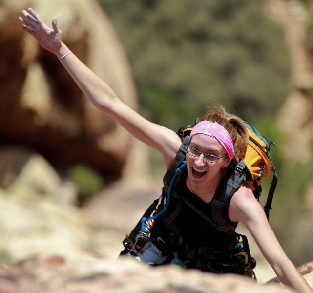 Rock Climbing Photo: Last pitch.