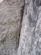 Rock Climbing Photo: Typical Messner.  Back and forth with limited pro....