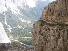 Rock Climbing Photo: The 'trail' down from the Big Micheluzzi.