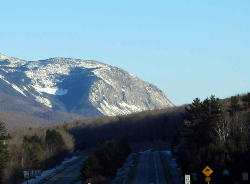 Cannon Cliff while driving north on interstate 93.