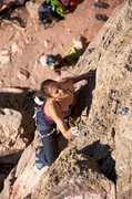 Rock Climbing Photo: Good times on the solid and sharp rock of the uppe...