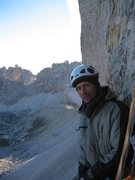 Rock Climbing Photo: Half way up the steep part of the Comici.  A cold ...