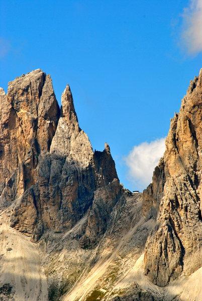 Rock Climbing Photo: The 'Thumb' on Punta Delle Cinque Dita.