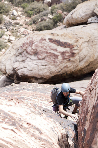 4th Pitch, right after the crux move.