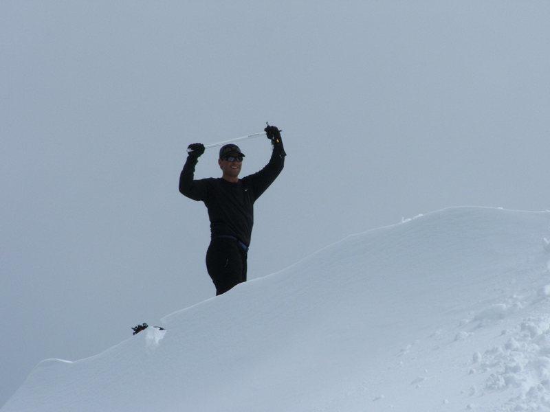 Charlie on Higgin's summit