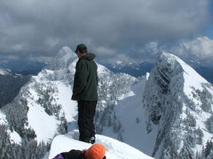 Rock Climbing Photo: Me checking to see if I'm on a big cornice :)