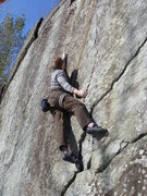 Rock Climbing Photo: Pulling into the initial crux sequence. This secti...