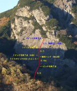 Rock Climbing Photo: Photo of the route