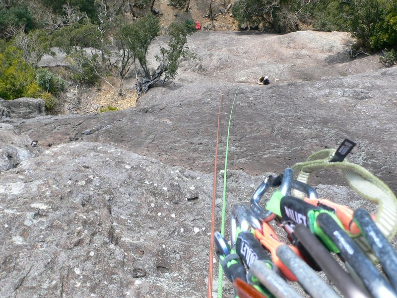 Rock Climbing Photo: part way up looking down