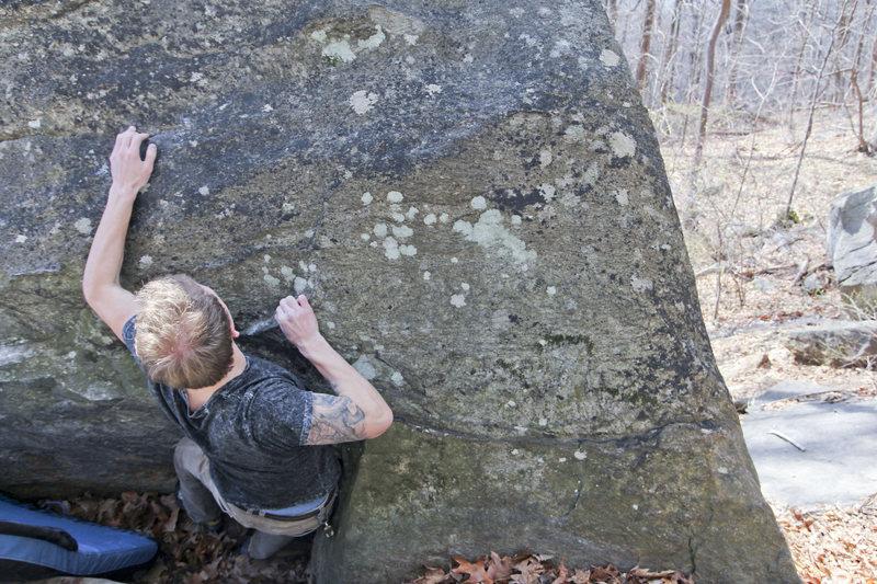 Rock Climbing Photo: Me on the FA.