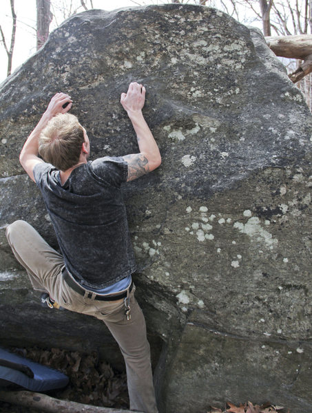 Rock Climbing Photo: Finishing up FA.