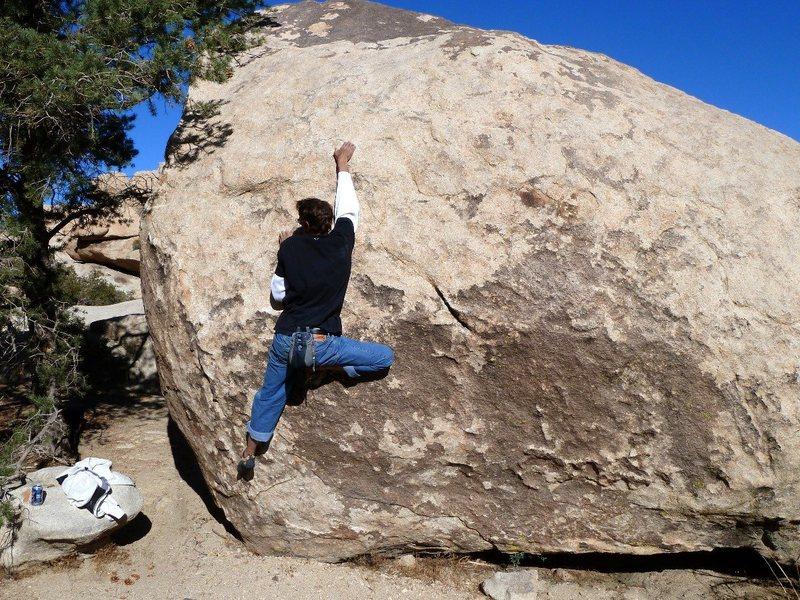 Chas on Stoney Point Problem (aka Bambam) (V3), Joshua Tree NP <br>