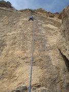 Rock Climbing Photo: Kate near the top.