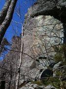 Rock Climbing Photo: cracked up