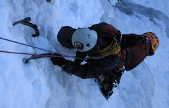 Rock Climbing Photo: Following first pitch of Ames Ice Hose, 3/11