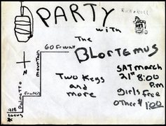 Rock Climbing Photo: The Blortemus party flier (circa 1981)
