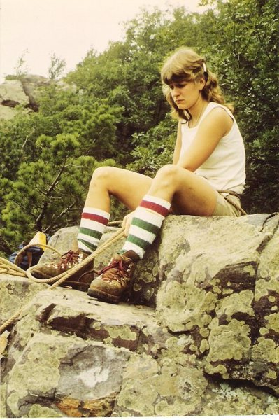 Rock Climbing Photo: Goldline and heavy boots.
