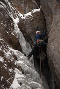 Rock Climbing Photo: Jarron goes for the thin start on P1 - The Skyligh...