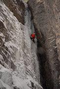 Rock Climbing Photo: Smokey (Andy) heads up towards [Choppo's Chimney],...