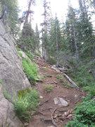 Rock Climbing Photo: Steep approach.
