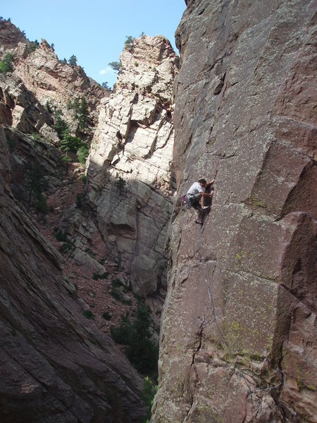 Rock Climbing Photo: Someone just above the crux.