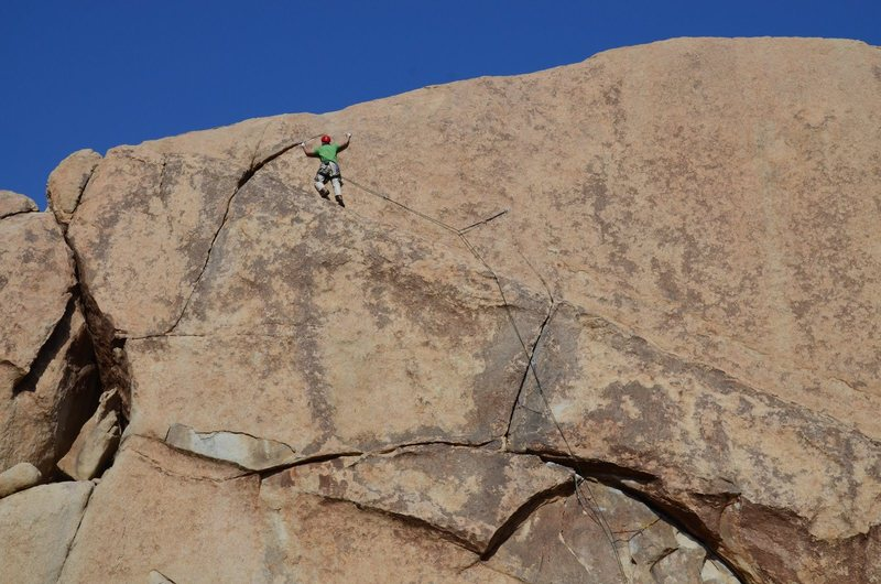 Rock Climbing Photo: almost to safety!