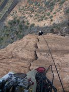 Rock Climbing Photo: Dean is following the bomber hands on P2