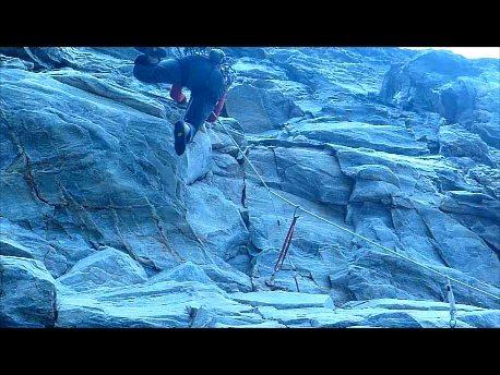 Rock Climbing Photo: ...onto the jug and cutting feet loose! (no fall)