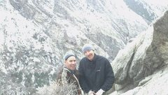 Rock Climbing Photo: Jared and Aaron after the third pitch roof and jus...