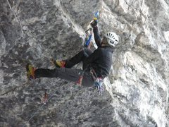 Rock Climbing Photo: The seam is great for monopoints, and there are so...