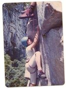 Rock Climbing Photo: Brother Tom following some route same cliff.  RR's...