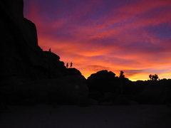 Rock Climbing Photo: This sunset only got better.