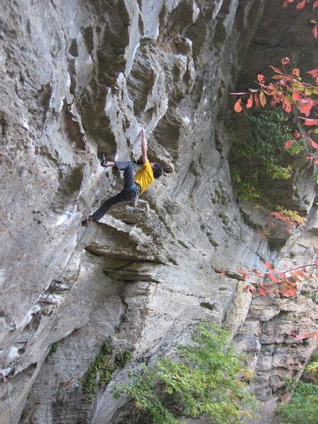 John battling the steep.