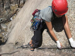 Rock Climbing Photo: Liebacking delight.