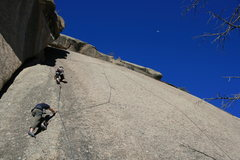 Rock Climbing Photo: A 'crowded' day at Rainy Day Rock. (1 party of 5 p...