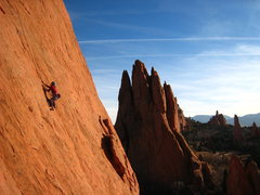 Rock Climbing Photo: Slabbing away on the west side.