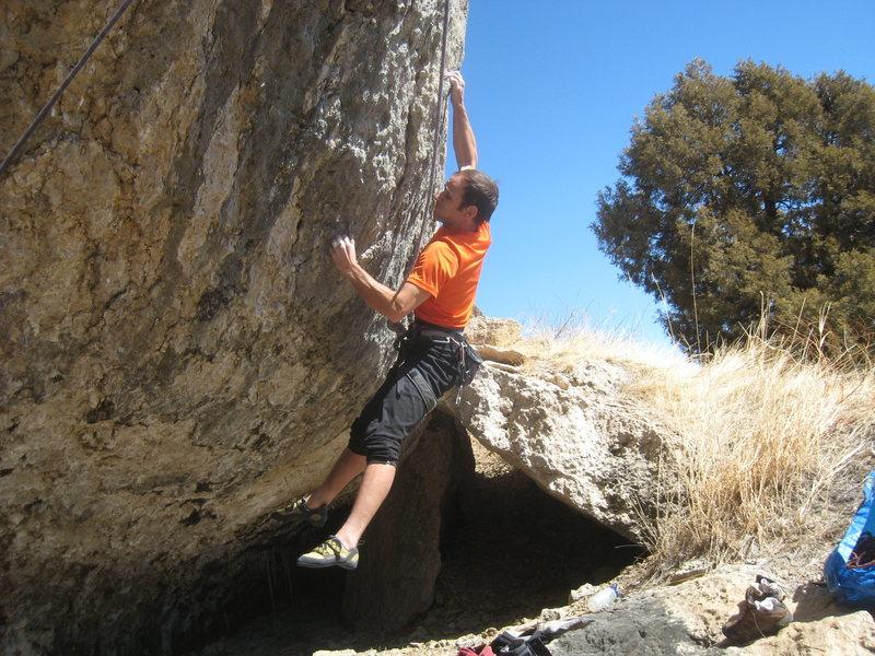 Rock Climbing Photo: The jump start.